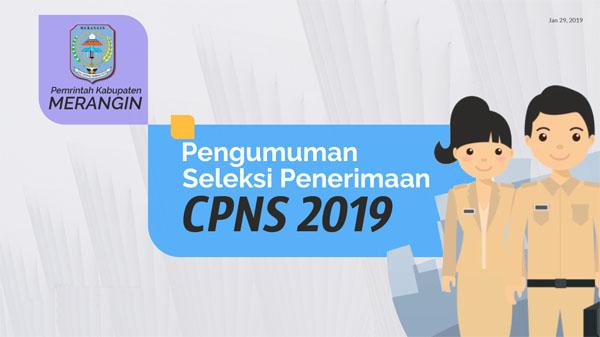 Pengumuman Penerimanan CPNS Pemerintah Kabupaten Merangin 2019