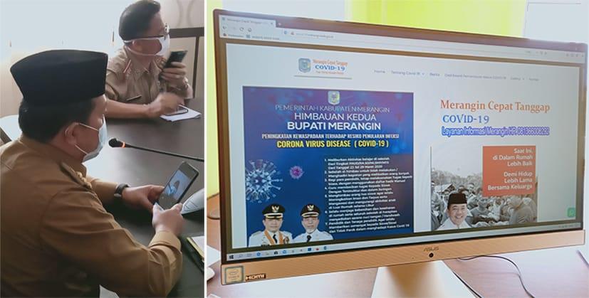 Diskominfo Luncurkan Website covid19.meranginkab.go.id