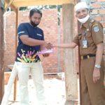 Pegawai Diskominfo Bantu Pembangunan Mushola